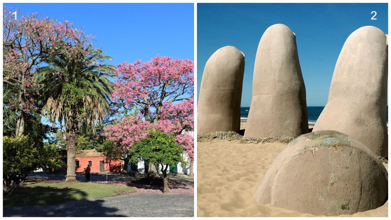 1- Colônia do Sacramento 2- Punta Del Este