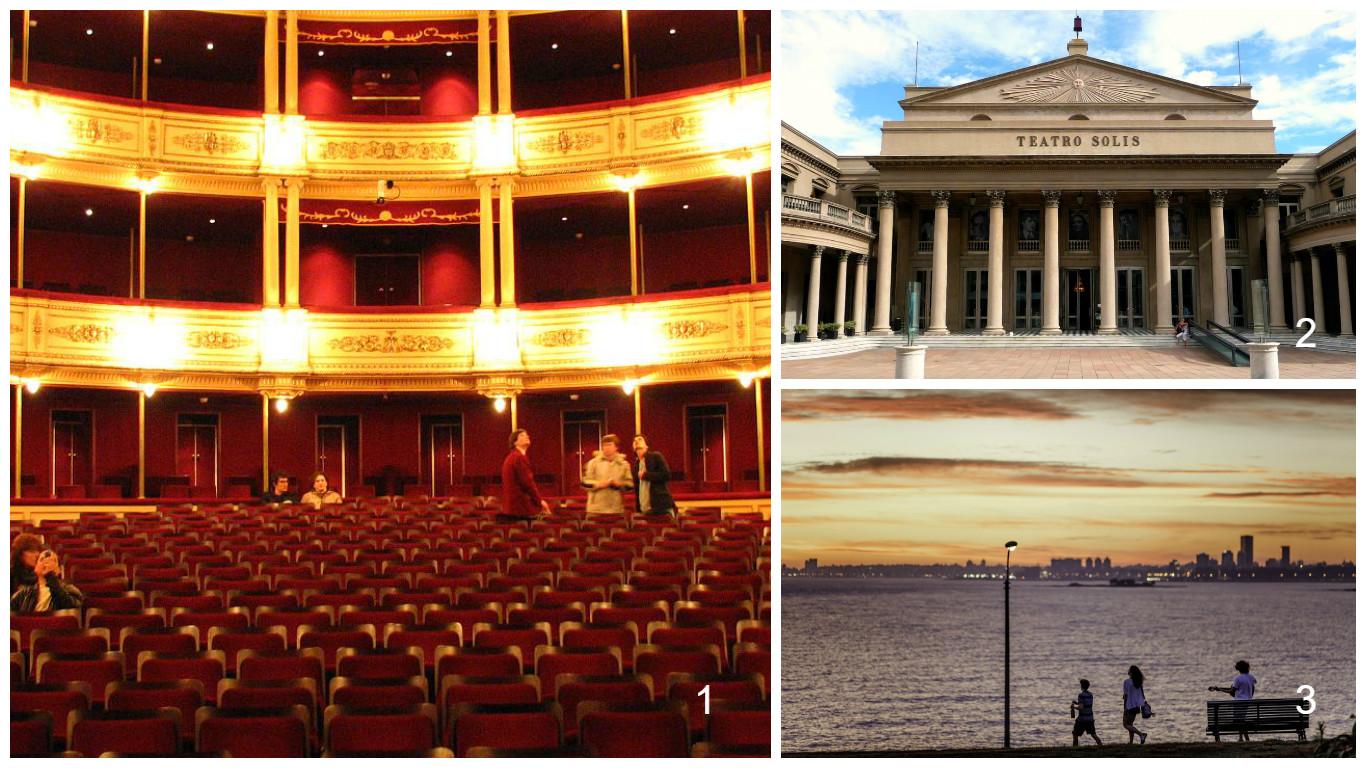 1- Teatro Solís (interior) 2- Teatro Solís 3- Punta Carretas