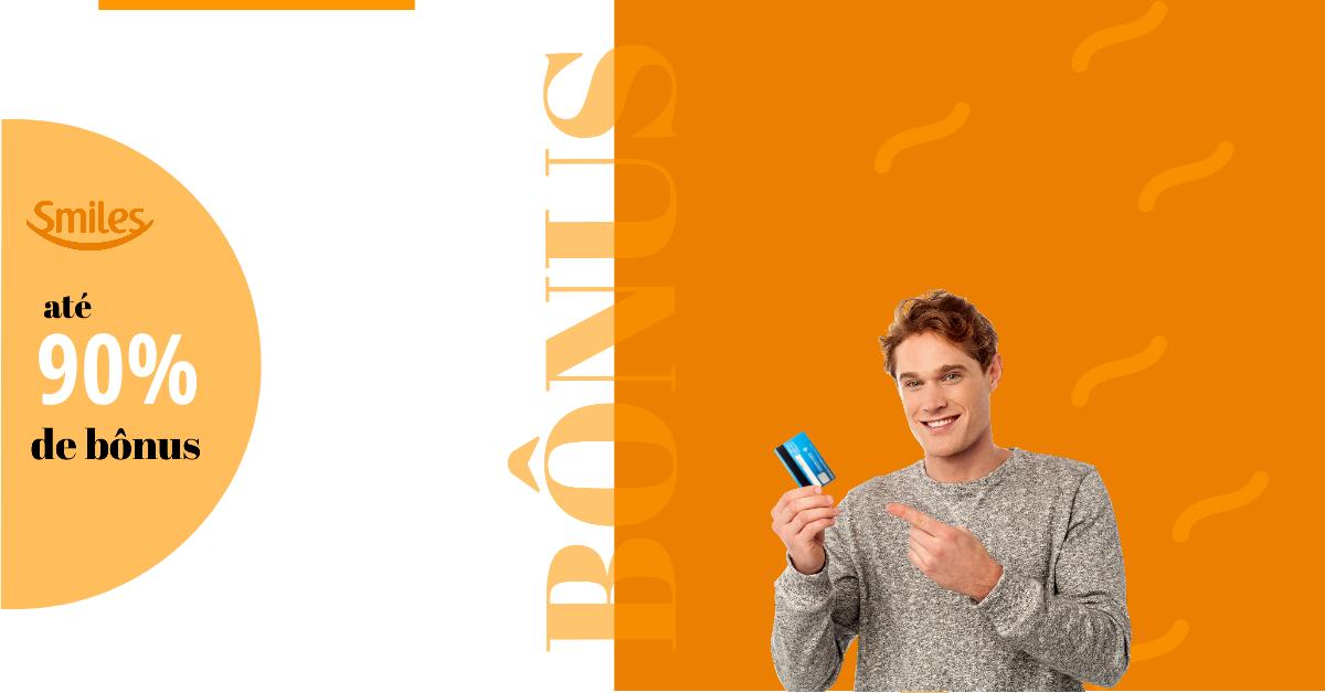 Smiles oferece até 90% de bônus nas transferências de pontos de cartões da Livelo.