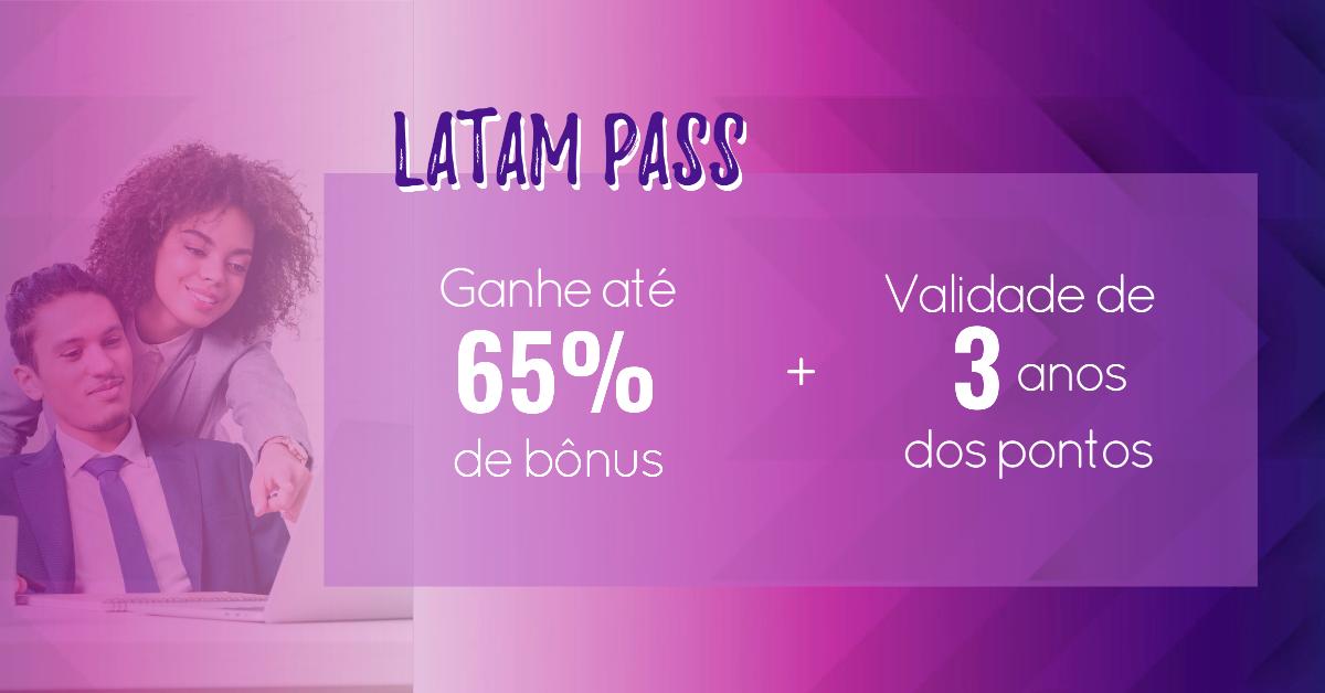 Latam Pass oferece até 65% de bônus nas transferências de pontos de cartões de crédito